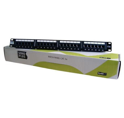 Patch Panel Plus 24 Portas CAT 5e