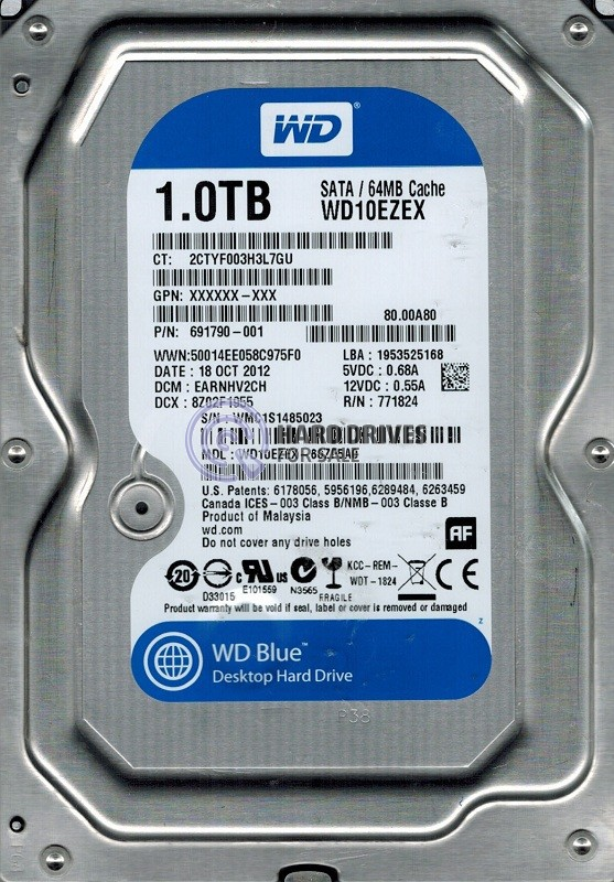 HD 1TB Sata lll 64MB 7200rpm (PC)