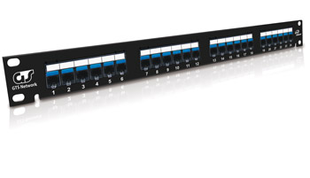 Patch Panel 24 Portas RJ-45 Cat. 5E 1U 19""