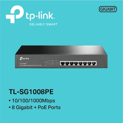 Switch 8 Portas Gigabit POE