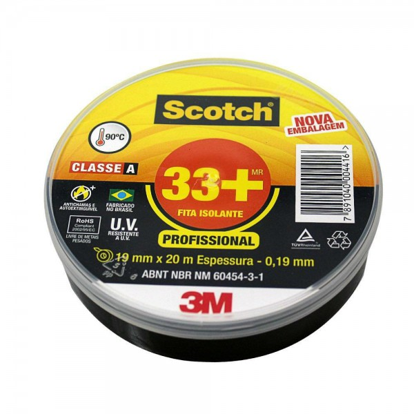 Fita Isolante 3M 33+ 19mm+20m